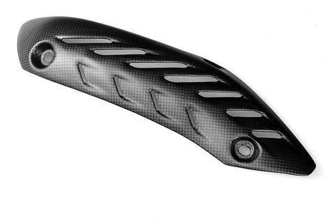 Ducati Carbon Fiber Monster 821 1200 1200S Upper Vertical Heat Guard with Heat Foil 4601B881A Plain / Matte - MDI CarbonFiber