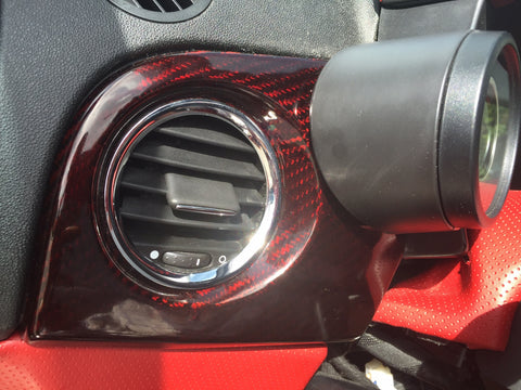 Fiat 500 Abarth Carbon Fiber Left Vent Dash Cover  - MDI CarbonFiber