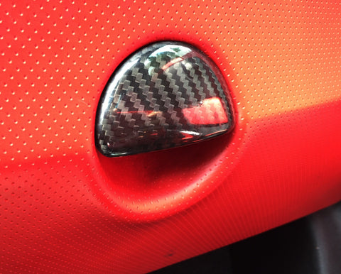 Fiat 500 Abarth Carbon Fiber Glove Box Handle Cover  - MDI CarbonFiber