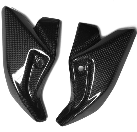Suzuki Carbon Fiber GSR 600 2006 to 2009 Side Trim Fairing Headlight Covers Plain / Glossy - MDI CarbonFiber - 1