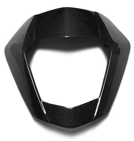 KTM Carbon Fiber 690 Duke 2012 2013 Front Headlight Mask Plain / Glossy - MDI CarbonFiber - 5