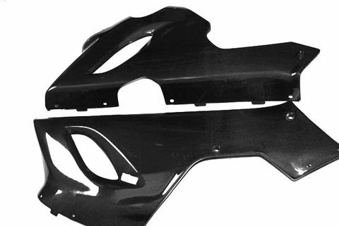 Kawasaki Carbon Fiber Ninja ZX 6R 636 Lower Side Fairing Set Fits 2005 2006  - MDI CarbonFiber - 1