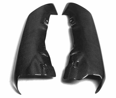 Kawasaki Carbon Fiber ZX6R Rear Under Seat Covers 2007 2008  - MDI CarbonFiber - 1