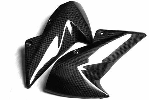 Kawasaki Carbon Fiber Z1000 Mid Side Fairings 2007 2009  - MDI CarbonFiber - 1