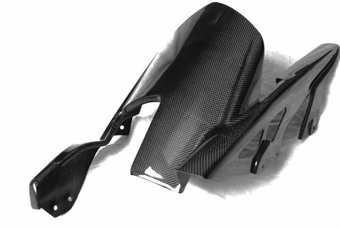 Kawasaki Carbon Fiber Z1000 Rear Fender with Chainguard Fits 2010 2011 2012 2013  - MDI CarbonFiber - 1