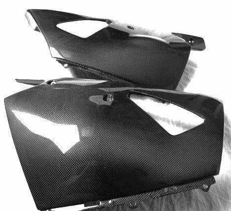 Kawasaki Carbon Fiber ZZR1400 ZX14 Lower Fairing Set Fits 2006 2012  - MDI CarbonFiber - 1