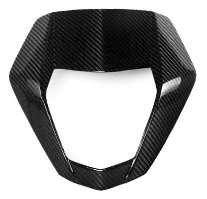 KTM Carbon Fiber 690 Duke 2012 2013 Front Headlight Mask Twill / Glossy - MDI CarbonFiber - 1