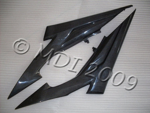 Suzuki Carbon Fiber GS Side Tank Cover Set R600 2006 2009  - MDI CarbonFiber