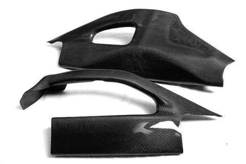 Suzuki Carbon Fiber GSX Swingarm Cover Set R1000 2005 2006 Plain / Matte - MDI CarbonFiber - 1