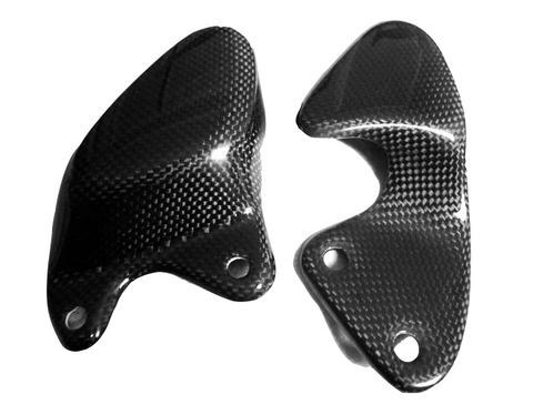 Aprilia Carbon Fiber RS125GS Heel Guards 1993 1994 1995 1996 1997 1998 1999 2000  - MDI CarbonFiber