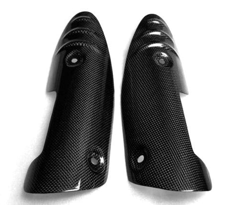 Triumph Carbon Fiber Sprint ST 1050 Heat Shield Guards Set Fits 2005 2009  - MDI CarbonFiber - 1