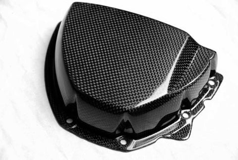 Triumph Carbon Fiber Sprint ST 1050 Side Chain Cover Fits 2005 2010  - MDI CarbonFiber - 1