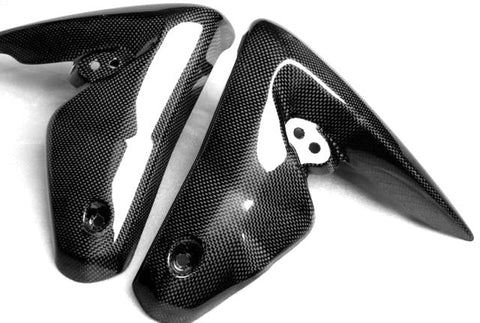 Triumph Carbon Fiber Street Triple 1050 Side Covers Fairing Fits 2008 2010  - MDI CarbonFiber - 1