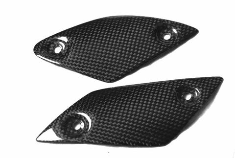 Yamaha Carbon Fiber MT 01 Heel Guards Plates 2006 2012  - MDI CarbonFiber - 1