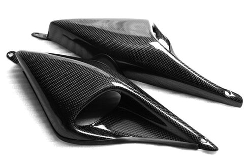 Ducati Carbon Fiber Hypermotard 1100 1100S Air Intakes  - MDI CarbonFiber - 1