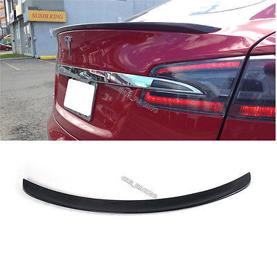Tesla Model S Carbon Fiber Trunk Boot Lip Spoiler Wing 2012-2015  - MDI CarbonFiber - 1
