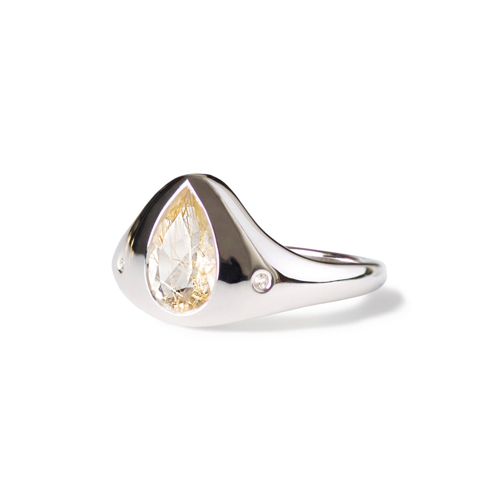True North Ring | Rutile Quartz
