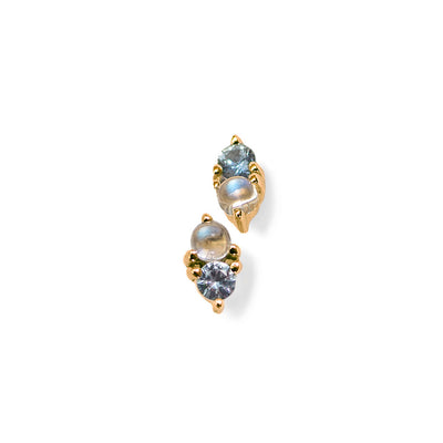LIMITED EDITION | Charmer Studs | Blue Sapphire & Rainbow Moonstone