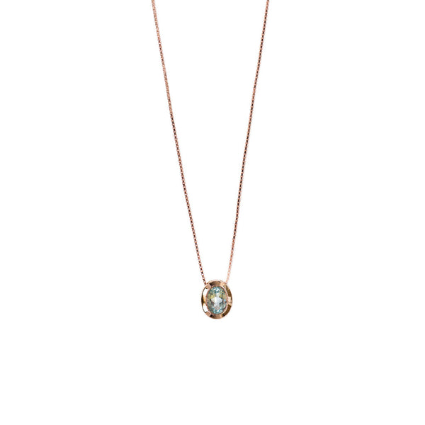 Estelle Necklace | Blue Topaz