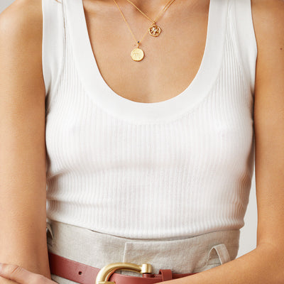 AQUARIUS | The Gold Zodiac Necklace