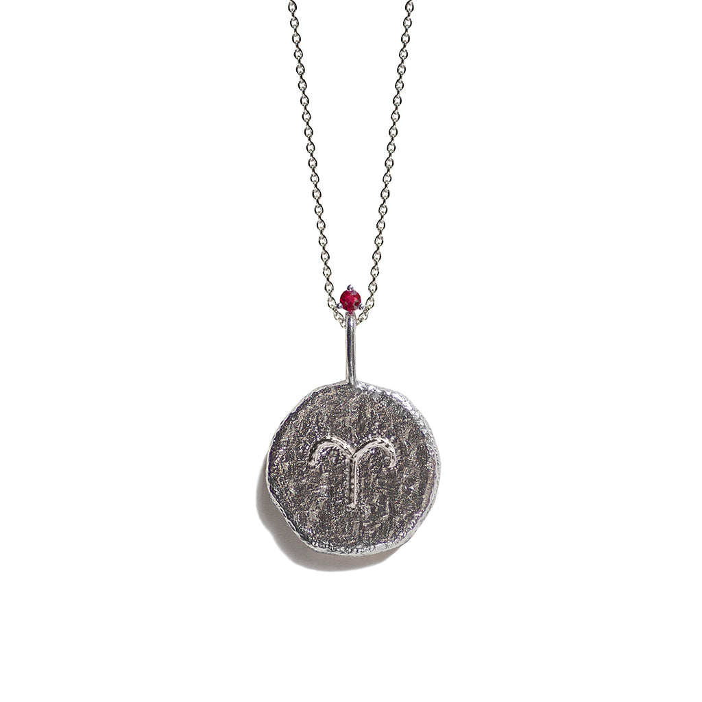 ARIES | The Silver Zodiac Necklace