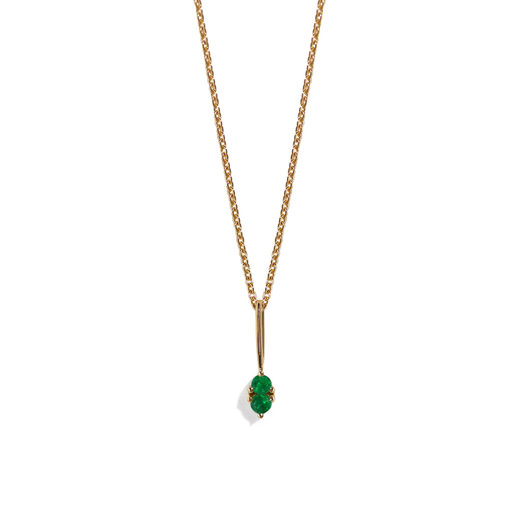 The Emerald Charmer Necklace