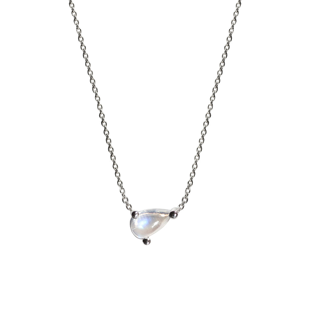 Cor Luna Necklace - Rainbow Moonstone