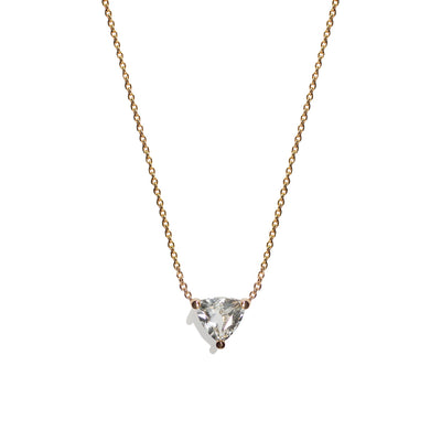 Cor Luna Necklace - White Topaz