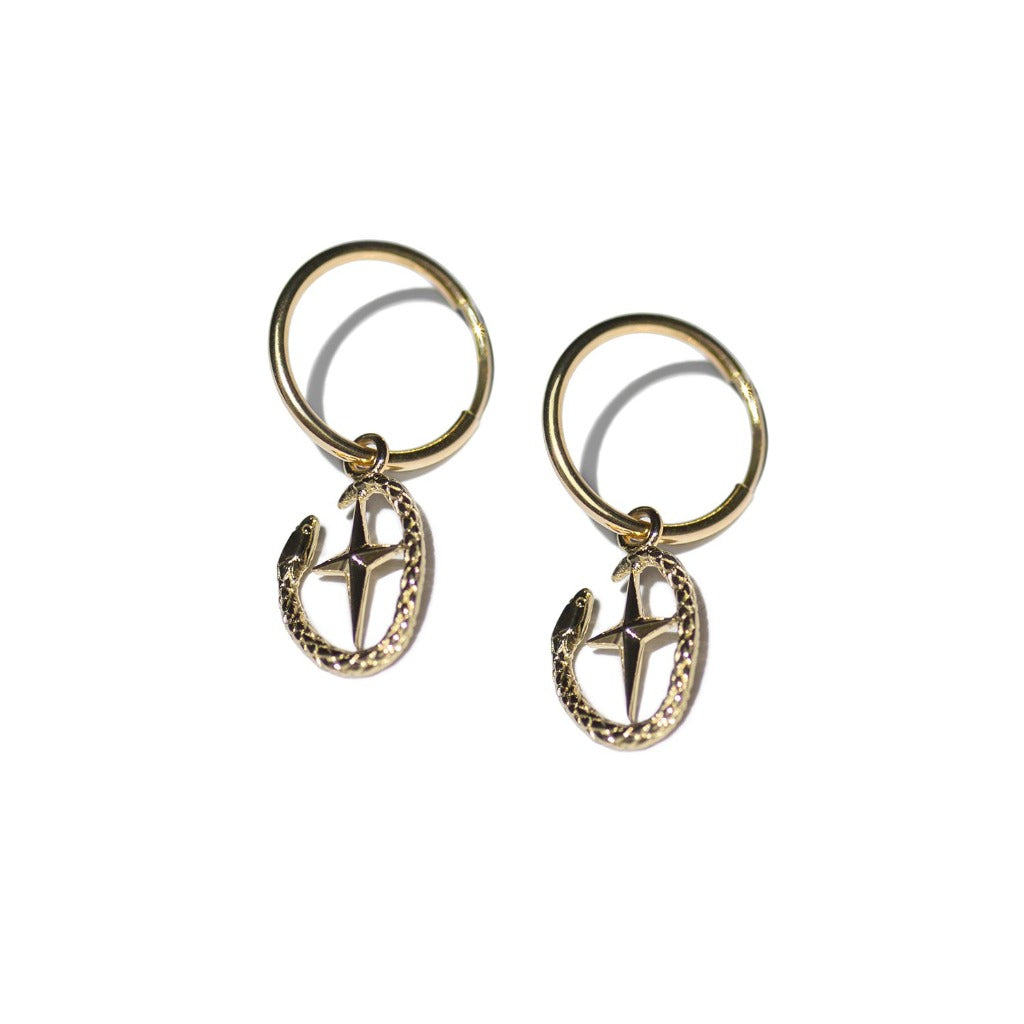 Aspida Tis Athinas | Shield Of Athena Earring | Gold