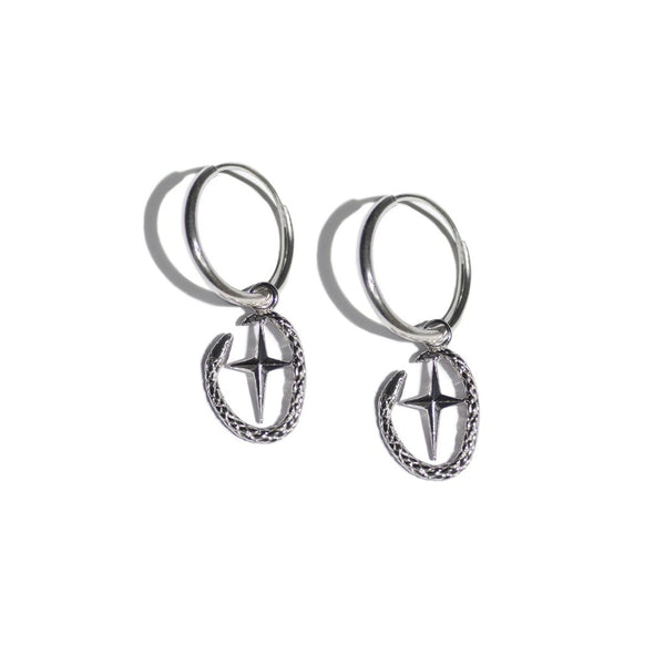 Aspida Tis Athinas | Shield Of Athena Earring | Silver