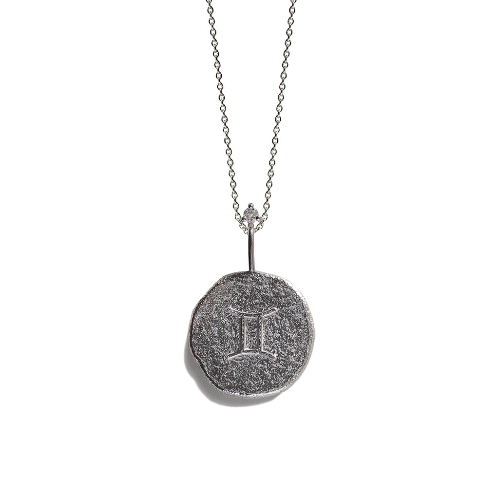 GEMINI | The Silver Zodiac Necklace