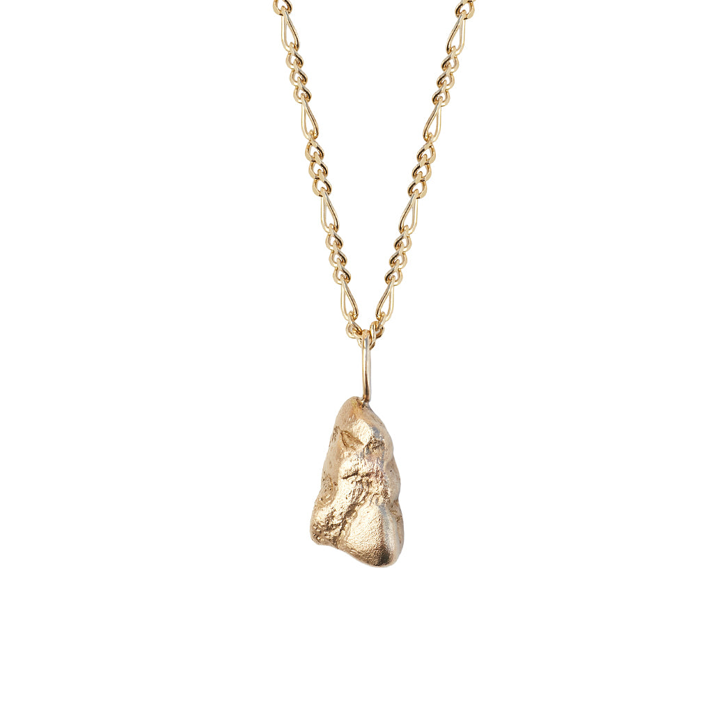 Gold Nugget Pendant | Solid Gold