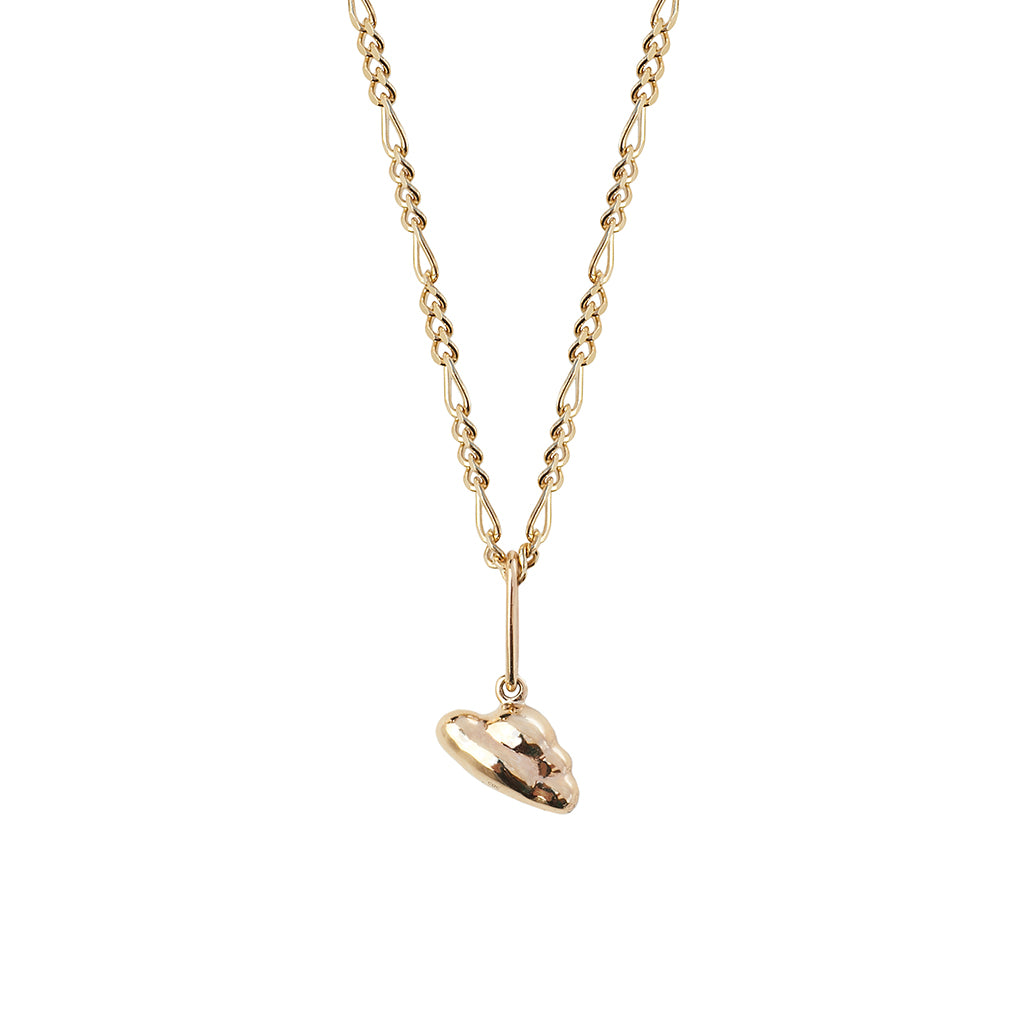 Hold My Dreams Cloud Pendant | Solid Gold