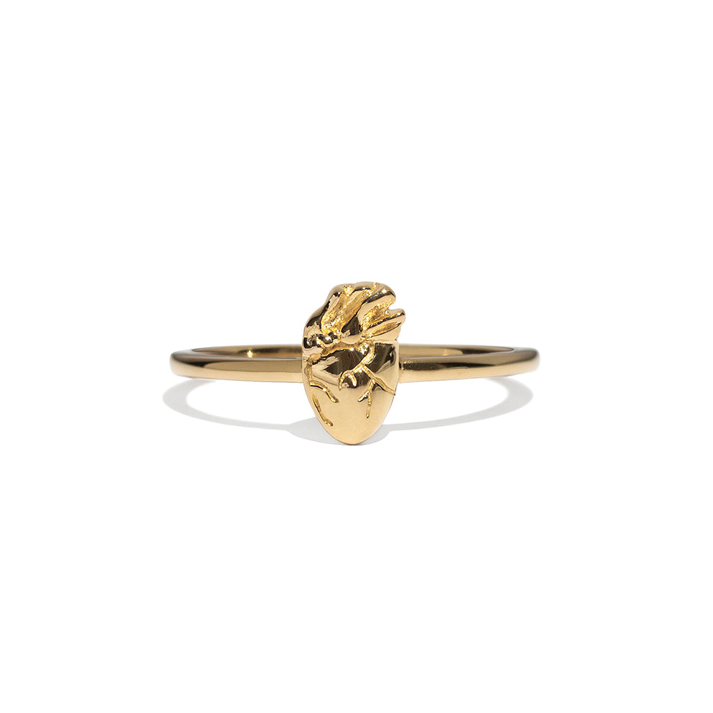I Carry Your Heart Ring - Gold Vermeil