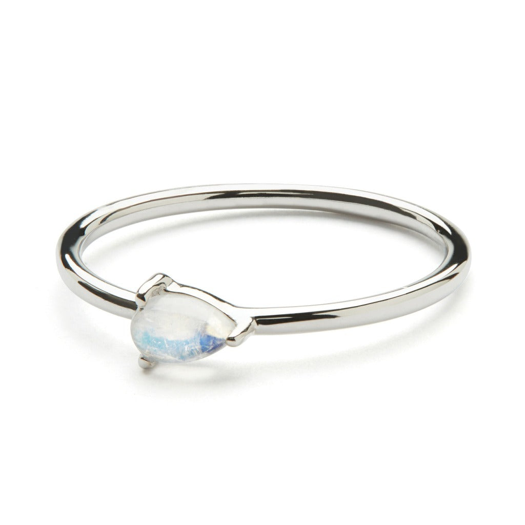 Cor Luna Ring - Rainbow Moonstone