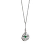 North Star Necklace | Silver & Emerald
