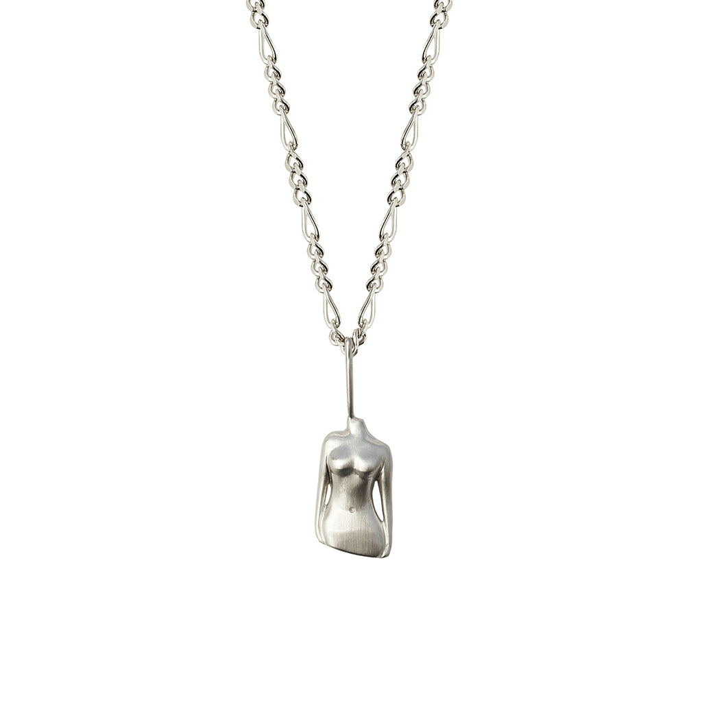 The Bust Pendant | Silver