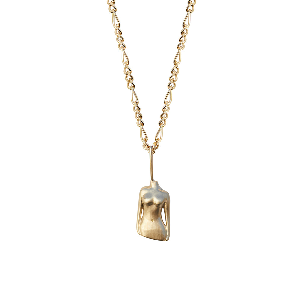 The Bust Pendant | Solid Gold