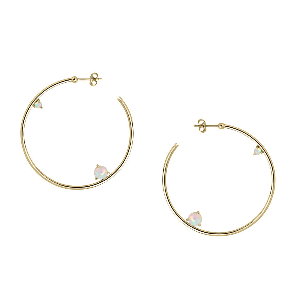 Holy Fire Hoops - Gold