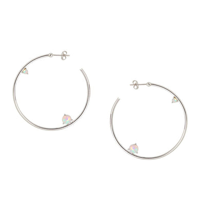Holy Fire Hoops - Silver
