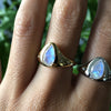 True North Ring | Rainbow Moonstone & Silver
