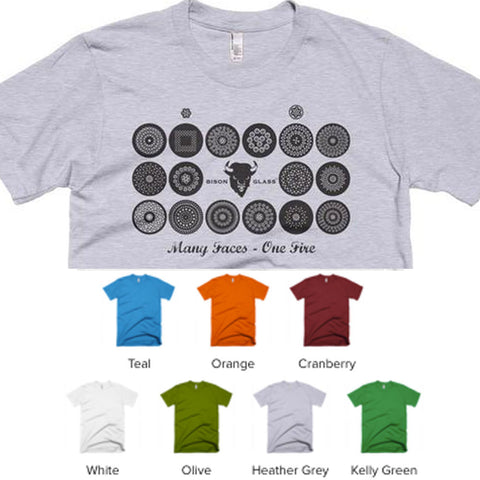 Many Faces - One Fire Multi Torch Face T-Shirt