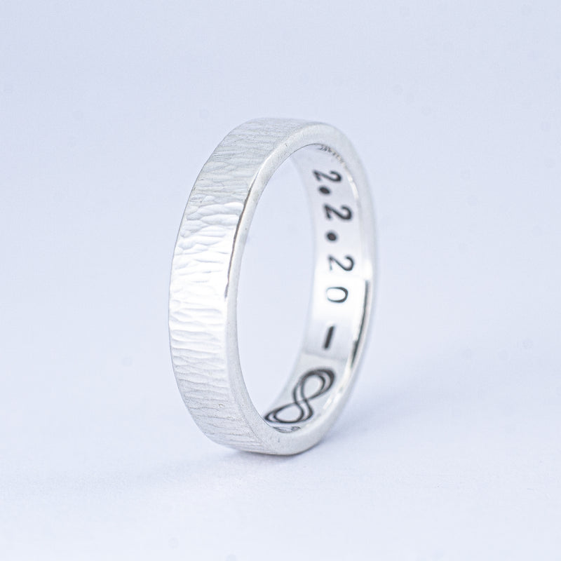 Sterling Silver Rain Band Ring