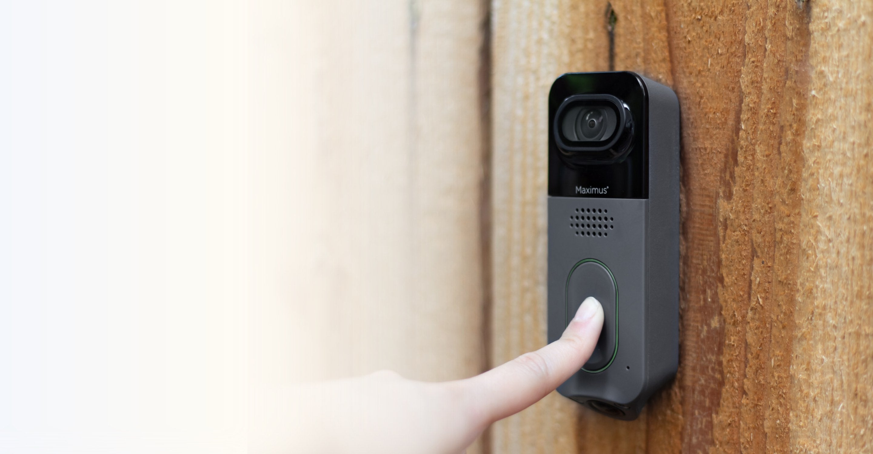 Maximus Answer DualCam Video Doorbell Nonsubscription Security System