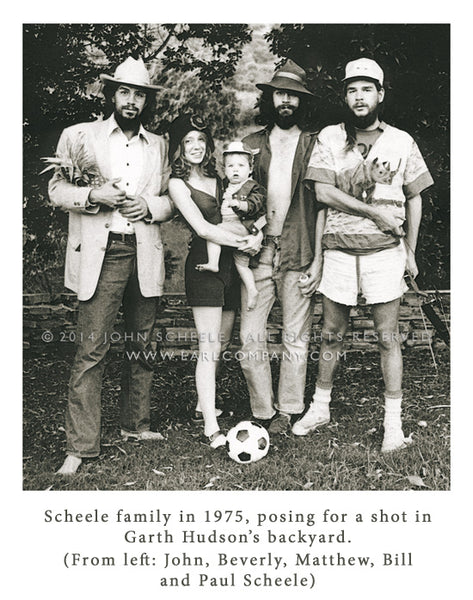 John Scheele, Bill Scheele & Family in Garth Hudson's back yard (1975)