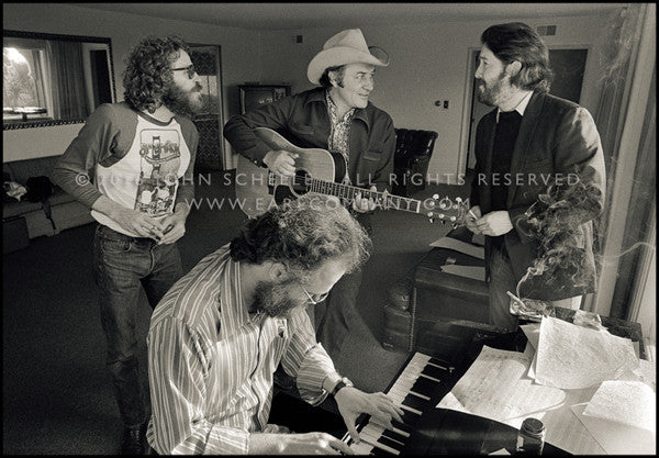 LEVON HELM, GARTH HUDSON, FRED CARTER, JR. & PAUL BUTTERFIELD - Shangri-La Studios (1975) - John Scheele - Collector's Print