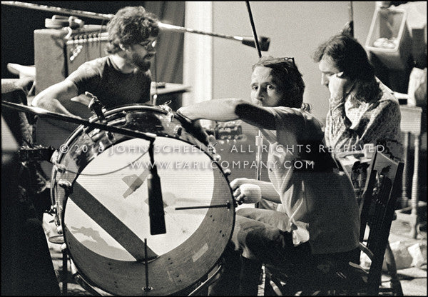 LEVON HELM & ROBBIE ROBERTSON & RICHARD MANUEL - Daniel and the Sacred Harp (1970) - John Scheele - Collector's Print