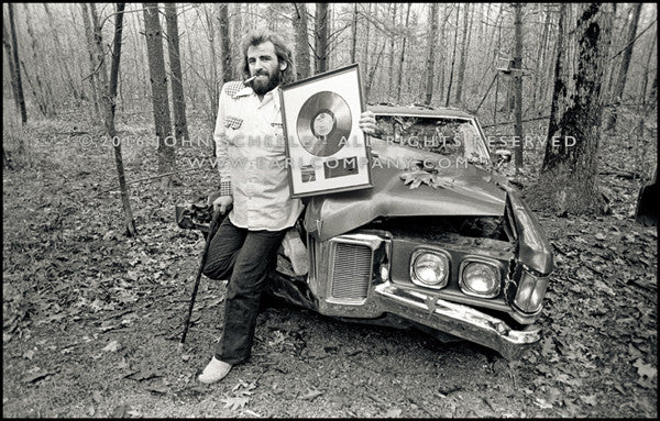 RICHARD MANUEL WITH GOLD RECORD - Woodstock, NY (1970) - John Scheele - Collector's Print