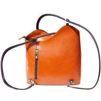 Leather Backpack and Shoulder Bag - Misha