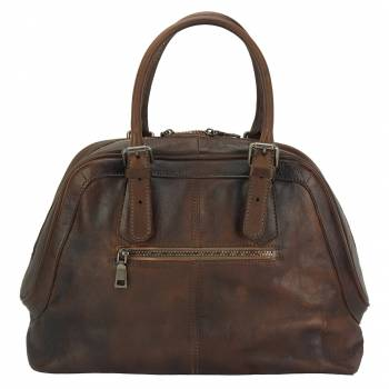 Soft Leather Handbag - Magda